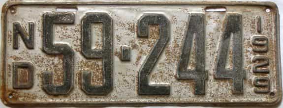 1929 North Dakota  (Single) license plate for sale