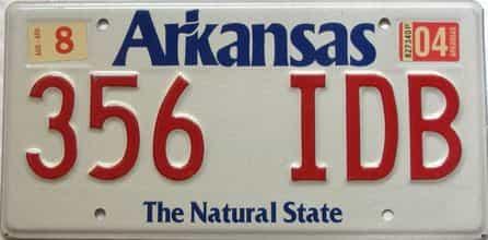 2004 Arkansas license plate for sale