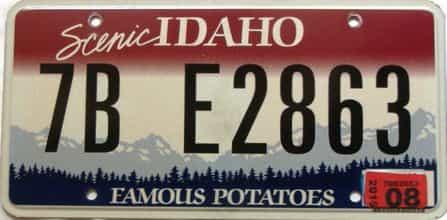2015 Idaho  (Single) license plate for sale