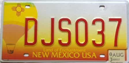 2003 New Mexico license plate for sale