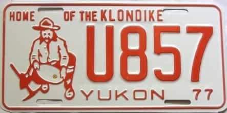 1977 Yukon  (Single) license plate for sale