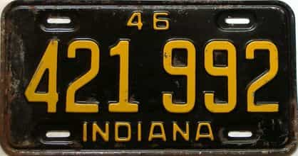 1946 Indiana license plate for sale