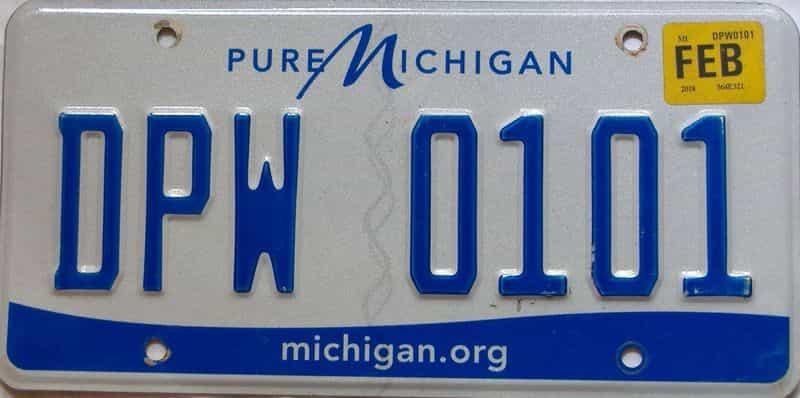 2018 Michigan license plate for sale