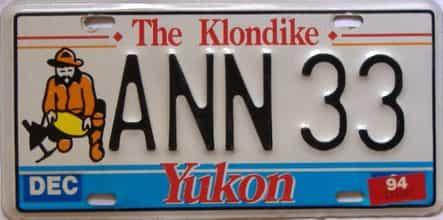 1994 Yukon  (Single) license plate for sale