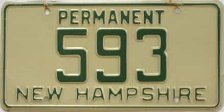 1973 New Hampshire (Non Passenger) license plate for sale