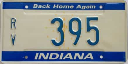1987 Indiana license plate for sale