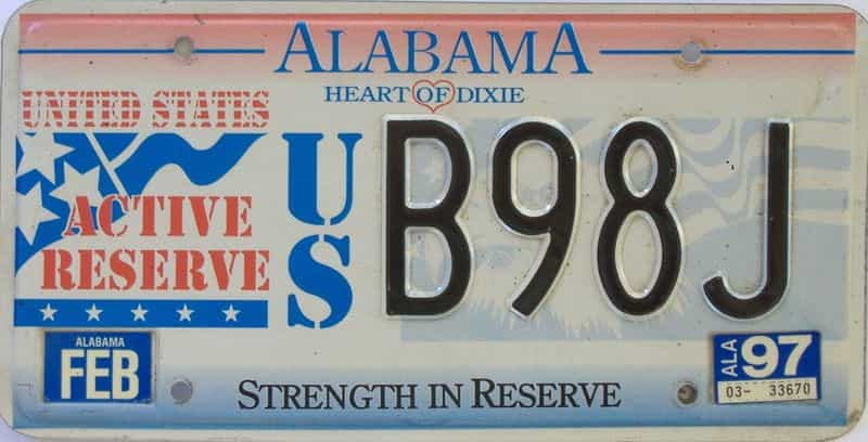 1997 Alabama license plate for sale