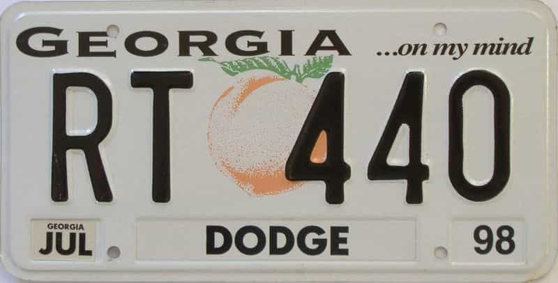 1998 GA (Vanity) license plate for sale