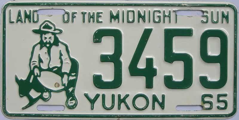 1965 CANADA (Yukon) license plate for sale