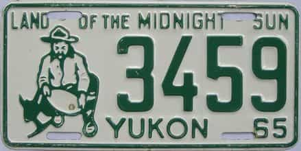 1965 Yukon (Single) license plate for sale
