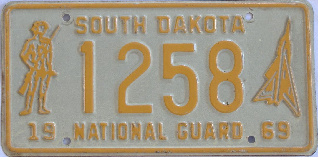 1969 South Dakota license plate for sale