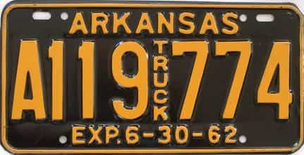 1962 Arkansas (Truck) license plate for sale