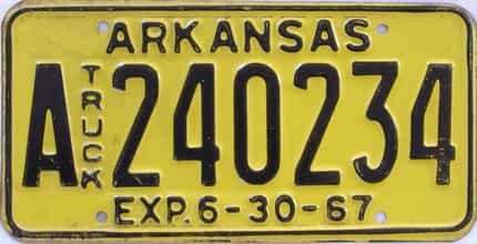1967 Arkansas (Truck) license plate for sale