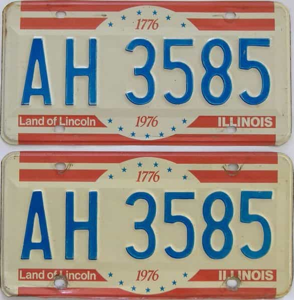 1976 IL (Pair) license plate for sale