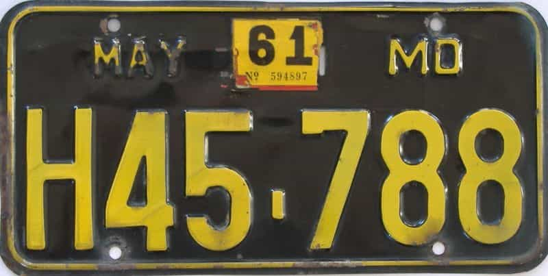 1961 MO license plate for sale