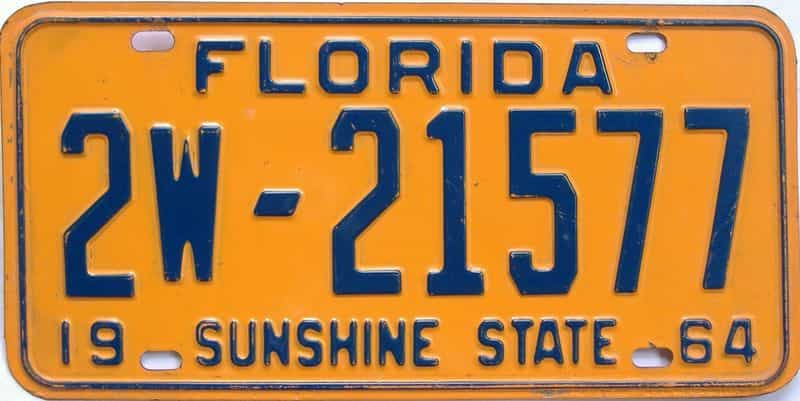 1964 Florida license plate for sale