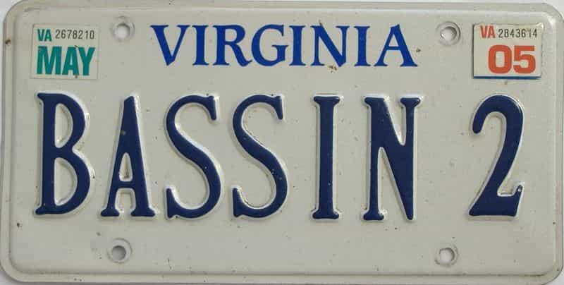 2005 Virginia (Vanity) license plate for sale