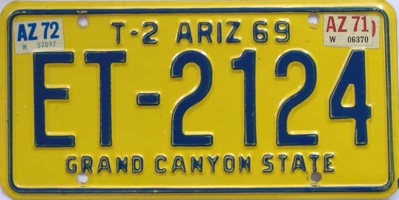 1972 Arizona (Trailer) license plate for sale