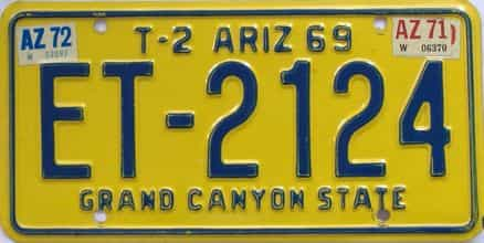 1972 Arizona (Trailer) license plate for sale