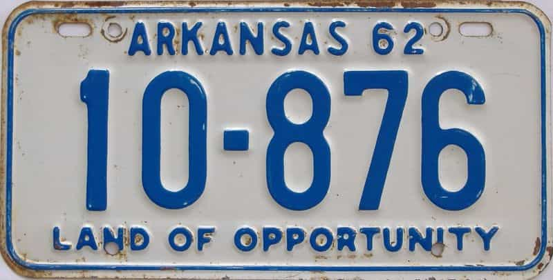 1962 AR license plate for sale
