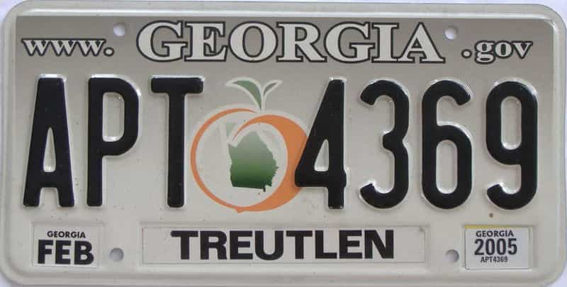2005 GA license plate for sale