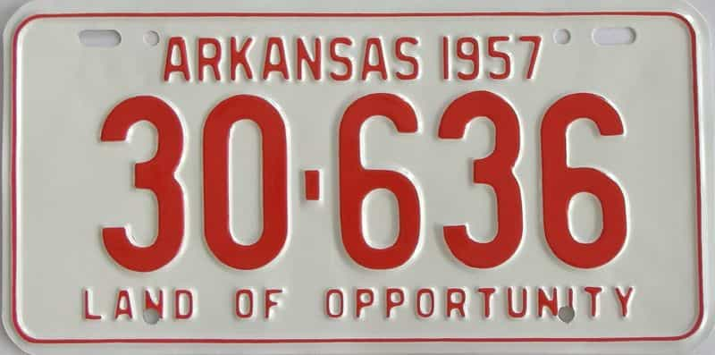 RESTORED 1957 AR license plate for sale