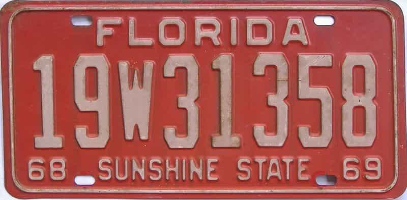 1968 FL license plate for sale