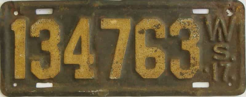 1917 Wisconsin  (Single) license plate for sale