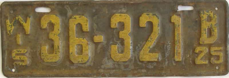 1925 Wisconsin (Single) license plate for sale
