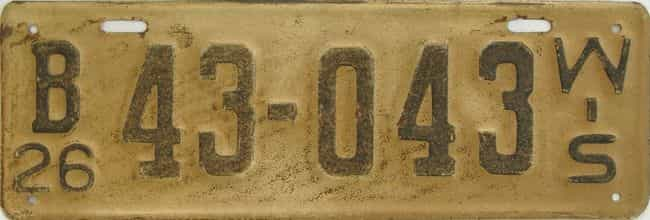 1926 Wisconsin (Single) license plate for sale
