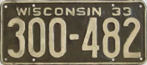 1933 Wisconsin (Repaint - As Found) license plate for sale