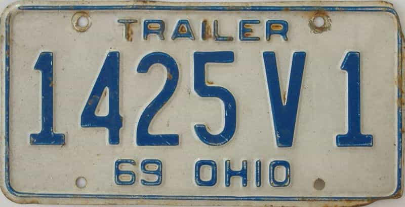 1969 OH (Non Pass) license plate for sale