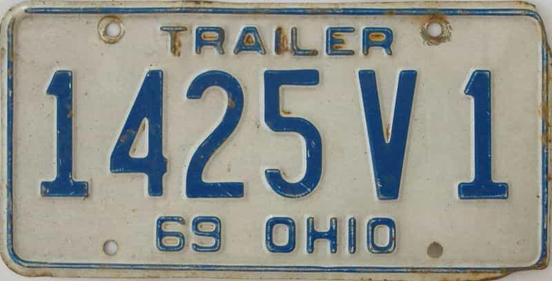 1969 Ohio (Non Pass) license plate for sale
