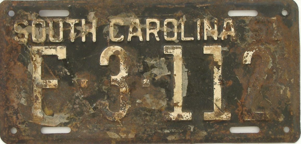 1951 South Carolina license plate for sale