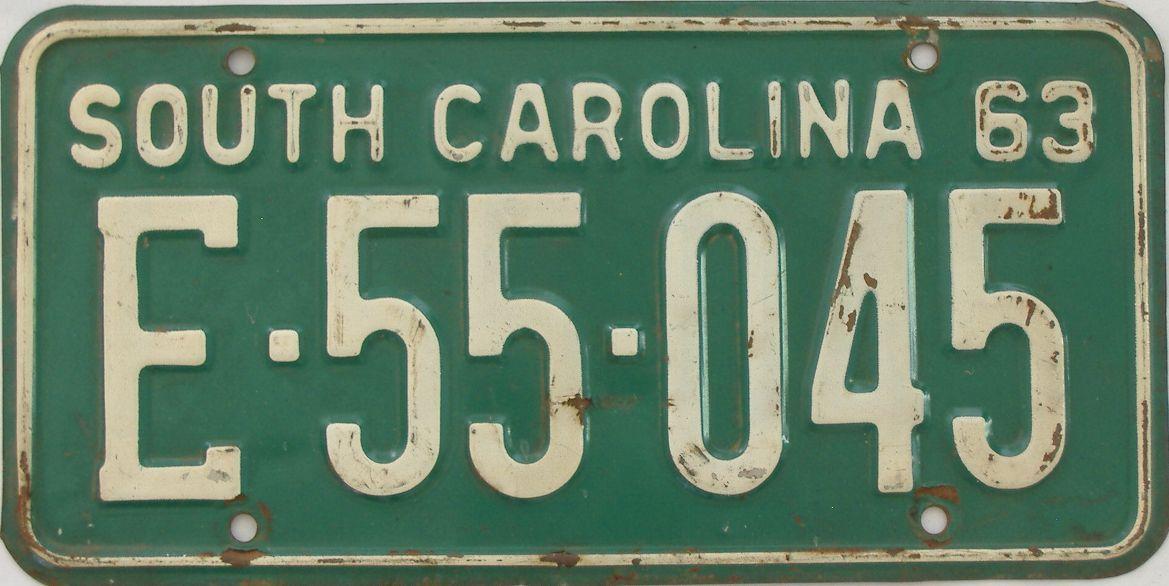 1963 South Carolina license plate for sale