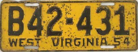 1955 West Virginia (Truck) license plate for sale