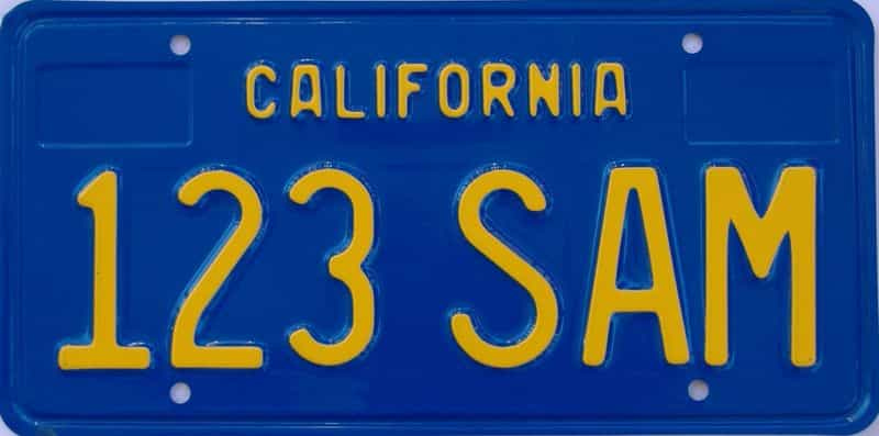 1970 California (Sample) license plate for sale