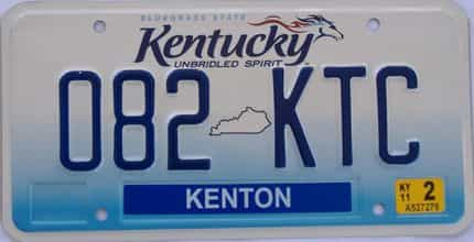 2011 Kentucky (Natural) license plate for sale
