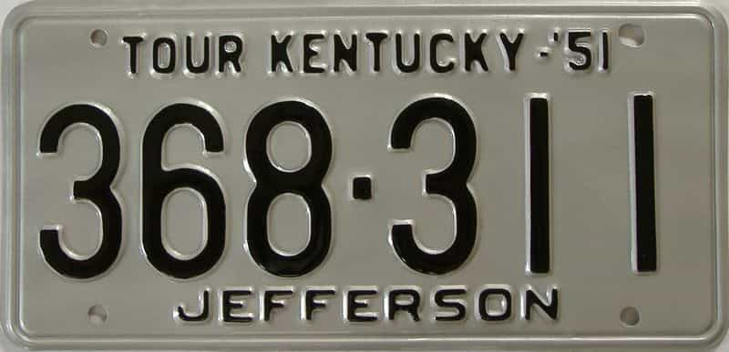 RESTORED 1951 Kentucky license plate for sale