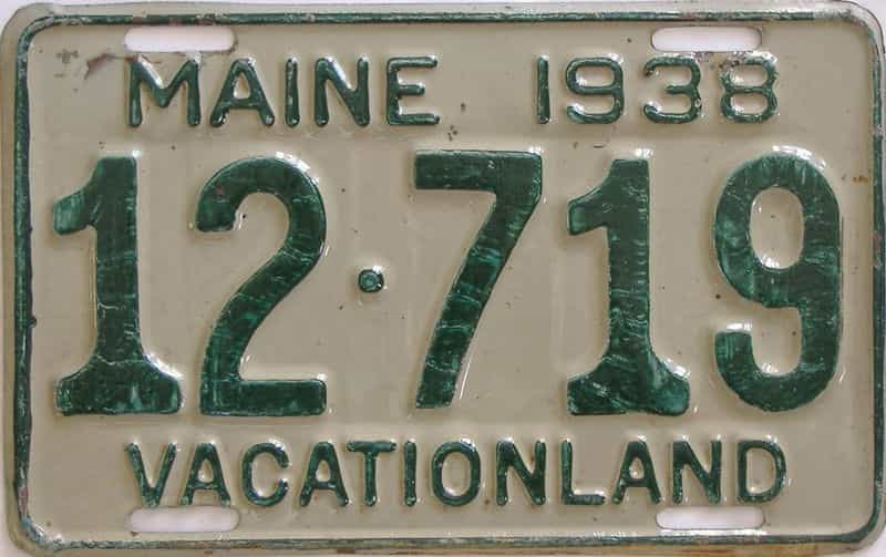 1938 ME (Single) license plate for sale