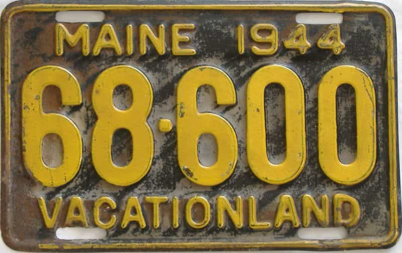 1944 Maine license plate for sale