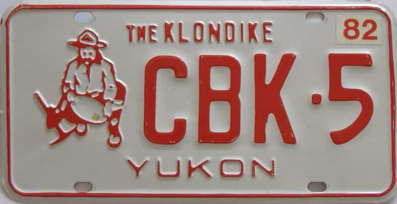 1982 Yukon (Single) license plate for sale