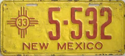 1933 New Mexico (Repaint - As Found) license plate for sale