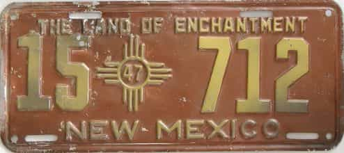1947 New Mexico license plate for sale