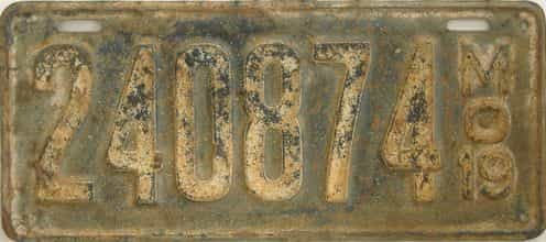 1919 Missouri (Single) license plate for sale