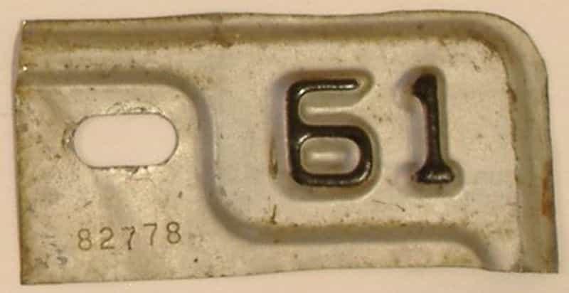 1961 MI license plate for sale