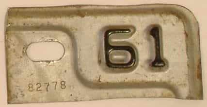 1961 Michigan license plate for sale