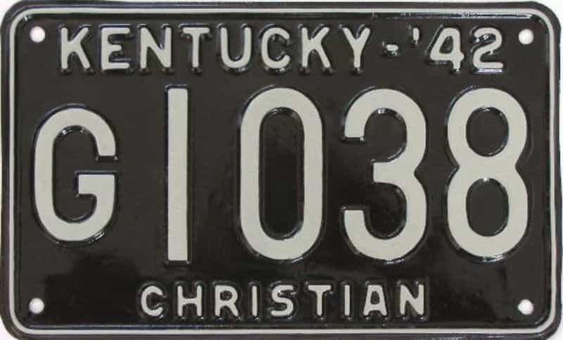RESTORED 1942 Kentucky license plate for sale