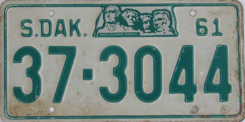 1961 SD (Single) license plate for sale