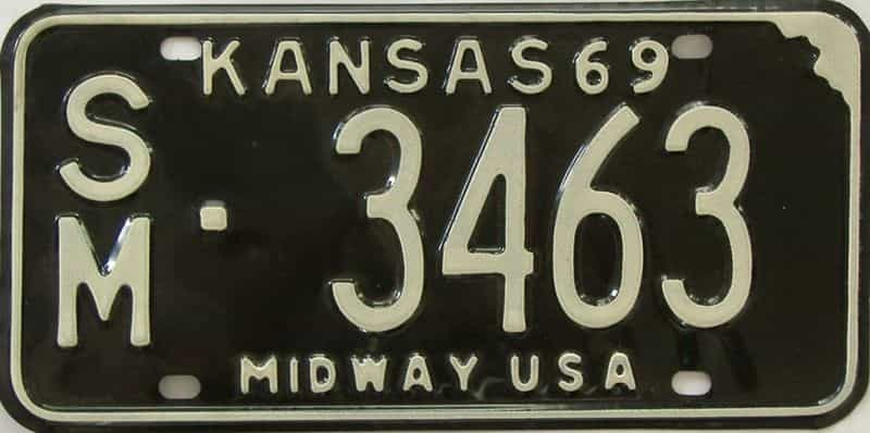 1969 Kansas license plate for sale